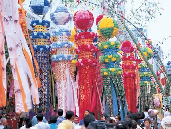 Sendai Tanabata Festival Sendai Miyagi Japan