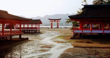 Itsukushima Low Tide in Chugoku region