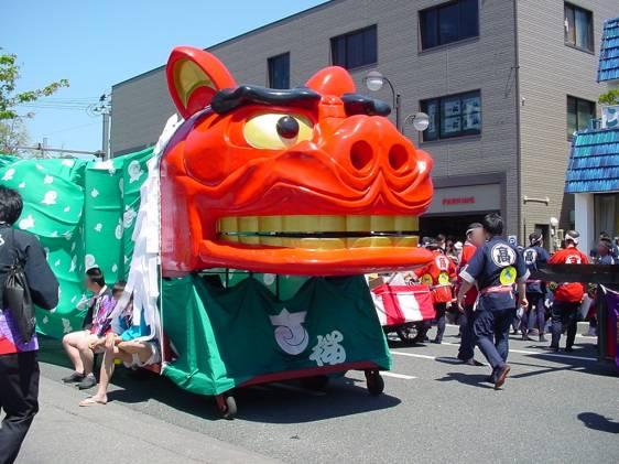 Lion at the Sakata Festival