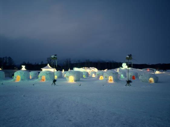 Iwate snow festival Koiwai Farm