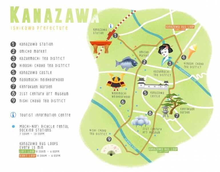 Kanazawa Map Green - Studio Fim