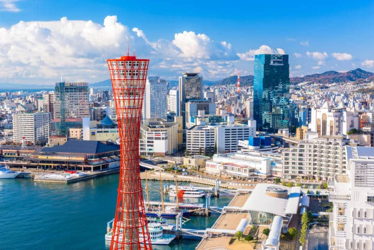 View of Kobe Port