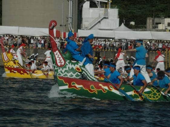 Dragon boat races in Naha