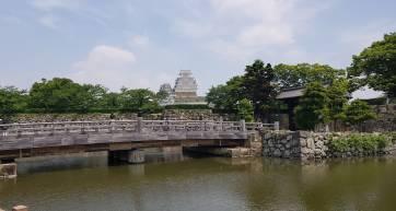 The bridge leading to Himeji Castle Park